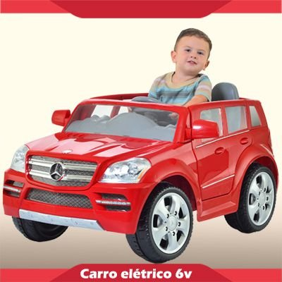 Mini Carrinho Elétrico 6V Mercedes GL Vermelha
