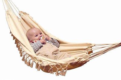 Rede para Berço Baby Bebê Antialérgica 100% Algodão Bege