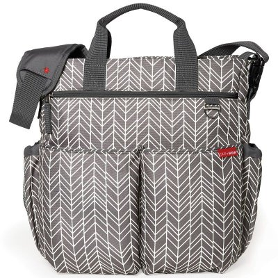 Bolsa Maternidade Diaper Bag Duo Signature Skip Hop Grey Feather Cinza