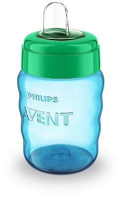Copo de Treinamento Transição Anti-Vazamento Bico Silicone Anatômico 260 ml Philips Avent Azul