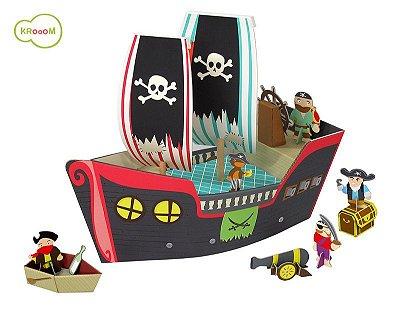Cenário de Montar Navio Pirata - Krooom