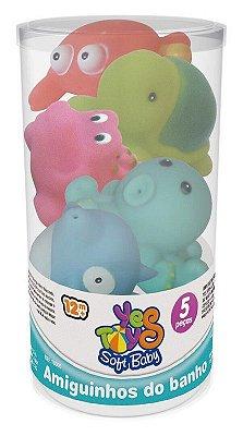 Amiguinhos do Banho - 5 Peças Golfinho e os Amigos
