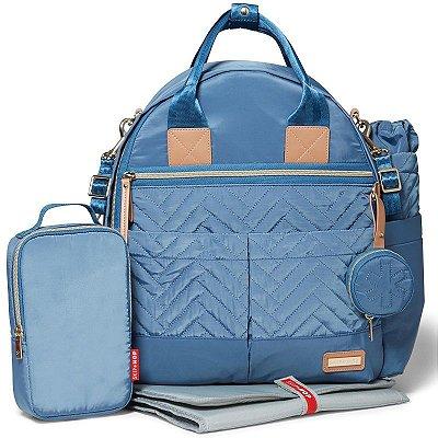 Bolsa Mochila Maternidade Skip Hop - Coleção Suite BackPack 6 Peças - Dusky Blue