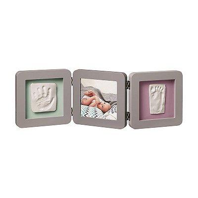 My Baby Touch 2 P porta-retrato arredondado com molde duplo - Grey