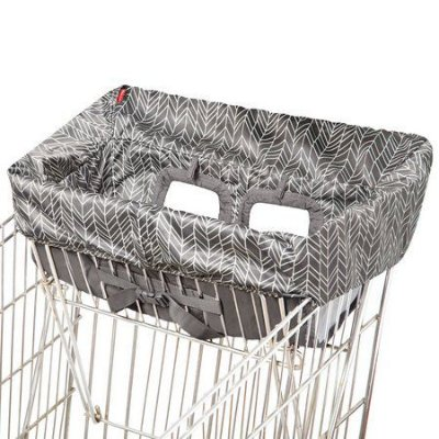 Protetor de Carrinho e Cadeirões Shop Cart Cover Grey Feather - SKIP HOP