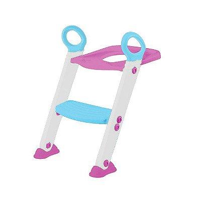 Assento Redutor com Escada Rosa - Buba