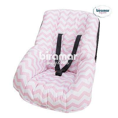 Capa para Bebê Conforto Ajustável Soho Chevron Rosa