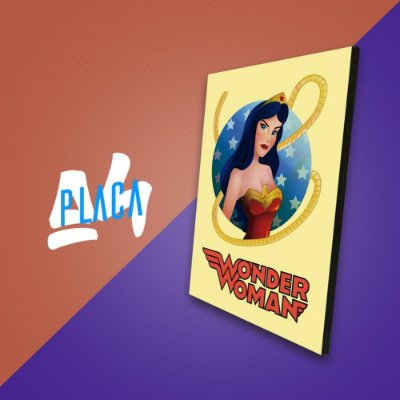 Placa A4 - Wonder Woman