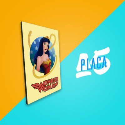 Placa A5 - Wonder Woman