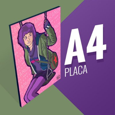Placa A4 - Ramona Flowers
