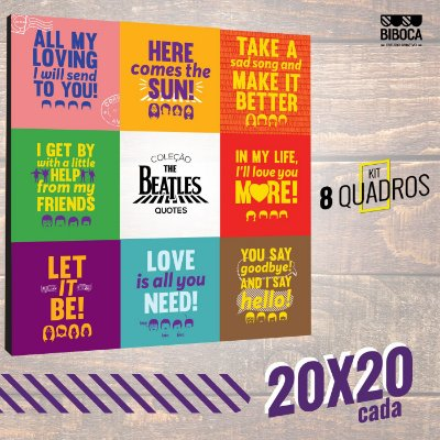 The Beatles Quotes - Kit 20x20