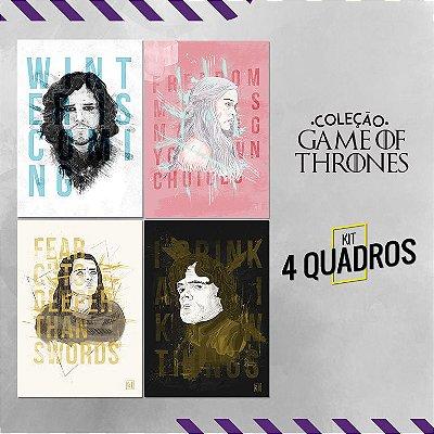 Coleção Game of Thrones - placas a4