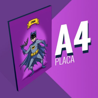 Placa A4 - Batman Adam West