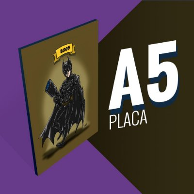 Placa A5 - Batman Christian Bale
