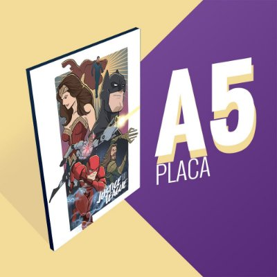 Placa A5 - Justice League
