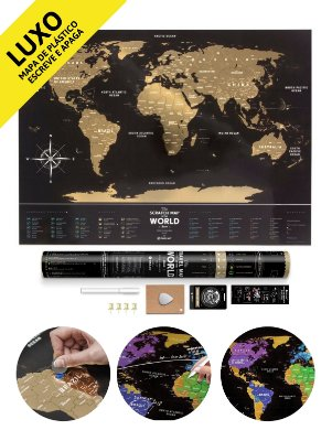 Mapa de Raspadinha Gold Deluxe 80x60