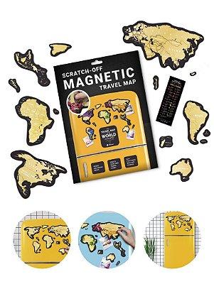 Mapa de Raspadinha Magnético para Geladeira