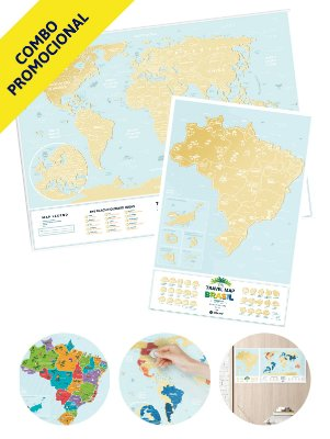 Combo - Mapa de Raspadinha Lagoon e Mapa de Raspadinha do Brasil