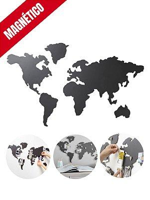 Mapa Mundi Magnético de Metal para Imãs e Fotos