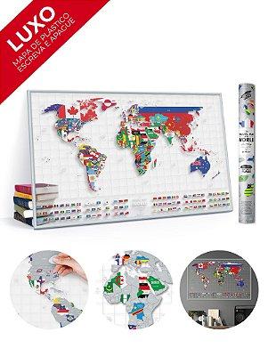 Mapa de Raspadinha Transparente com Bandeiras - 96x60