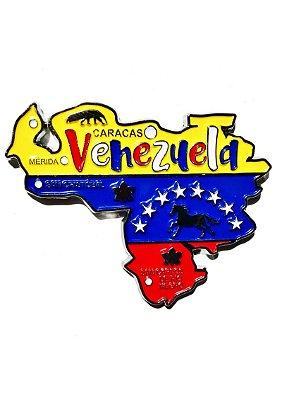 Imã Venezuela - Mapa Venezuela com Bandeira, Cidades e Símbolos
