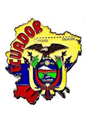 Imã Equador - Mapa Equador com Bandeira, Capital e Símbolos