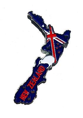 Imã Nova Zelândia - Mapa Nova Zelândia com Bandeira, Capital e Símbolo