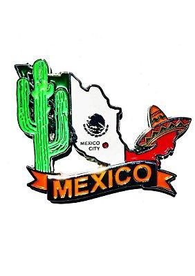Imã México - Mapa México com Bandeira, Capital e Símbolos