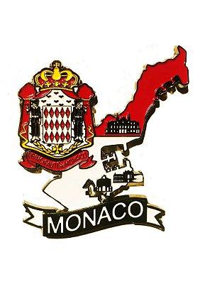 Imã Mônaco - MapaMônaco com Bandeira, Cidades e Símbolos