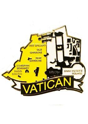Imã Vaticano - Mapa Vaticano com Bandeira, Cidades e Símbolos