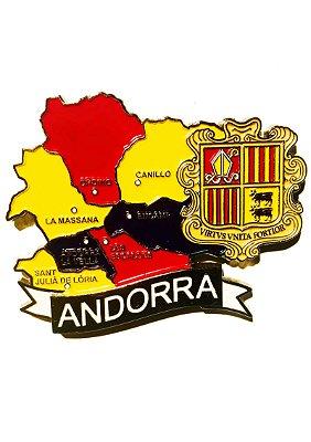 Imã Andorra - Mapa Andorra com Bandeira, Cidades e Símbolos