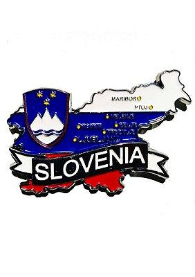 Imã Eslovênia - Mapa Eslovênia com Bandeira, Cidades e Símbolos