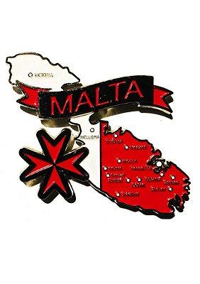 Imã Malta - Mapa Malta com Bandeira, Cidades e Símbolos