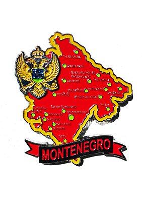 Imã Montenegro - Mapa Montenegro com Bandeira, Cidades e Símbolos
