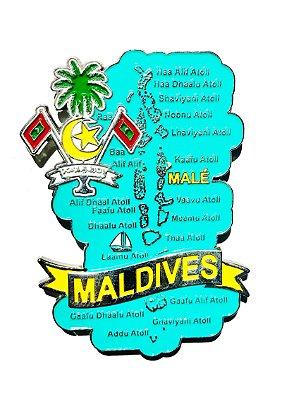 Imã Maldivas - Mapa Maldivas com Bandeira, Cidades e Símbolos