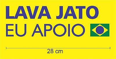 1 adesivo - Operação #LavaJatoEuApoio para carro