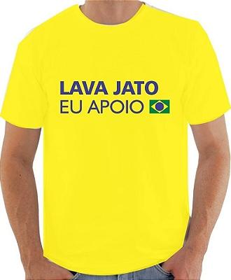 1 camiseta - Operação #LavaJatoEuApoio para protestos