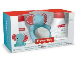 Kit presente Elefante - Shampoo, Condicionador e Saboneteira com sabonete