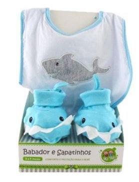 Kit Babador e Pantufa - Tubarão