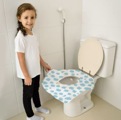 Protetor descartável para vaso sanitário - 12 unidades