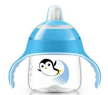 Copo antivazamento Pinguim +6 meses Avent - AZUL