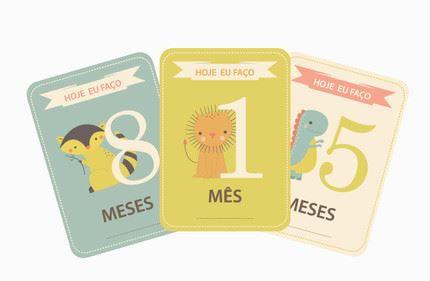 Cards mês a mês - Acompanhamento do Bebê