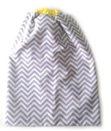 Saco impermeável para roupa suja - AMARELO e CINZA