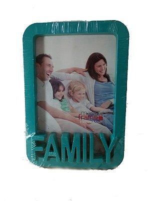 Porta Retrato 10 x 15cm Family - Petróleo