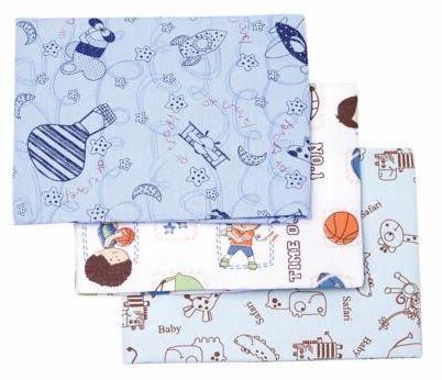 Kit Cueiro Estampado 100 x 80cm - Azul (kit com 3 unidades)
