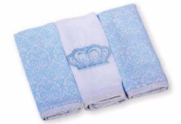 Paninho de boca com 3 unidades - Reininho Classic Azul