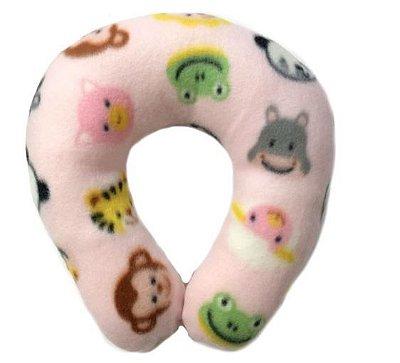 Suporte de pescoço para bebê em soft - Safari Rosa