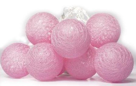 Cordão de luz de led - Bolinhas Rosa