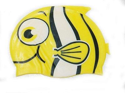 Touca de natação infantil - Peixinho Amarelo