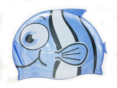 Touca de natação infantil - Peixinho Azul